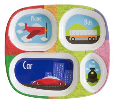 Children's Divided Plate - Transportation