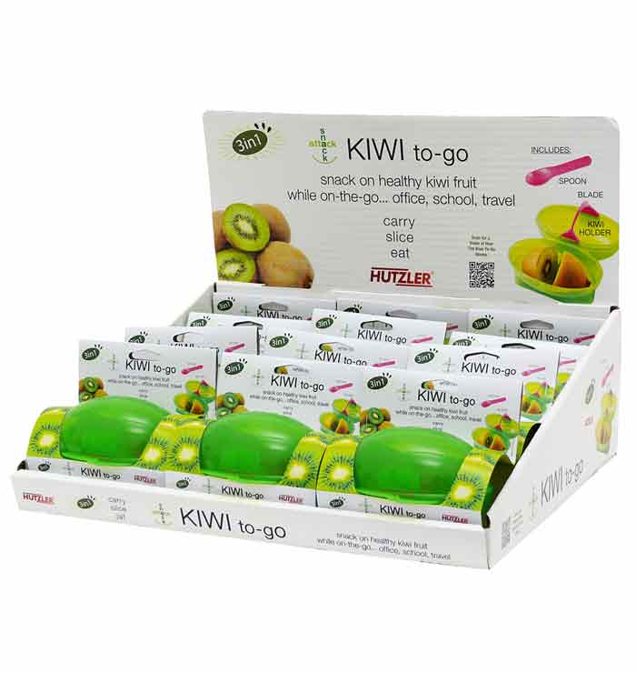 Snack Attack Kiwi to-go Counter Display