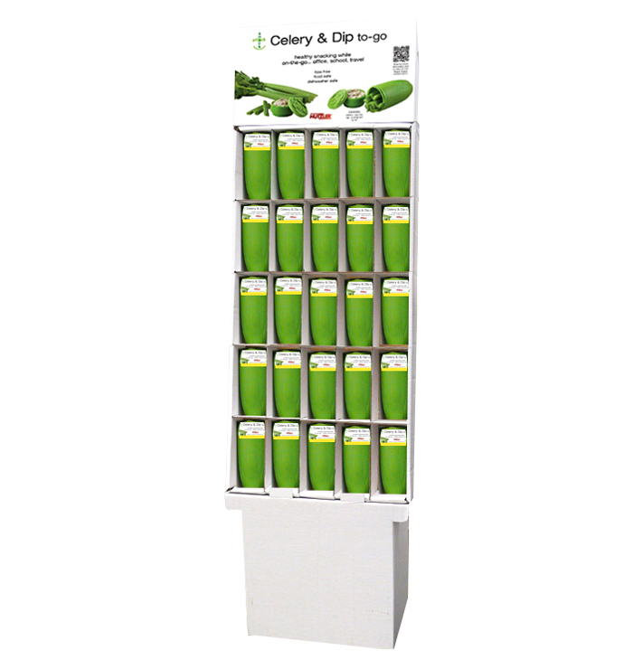 Snack Attack Celery & Dip to-go Floor Display