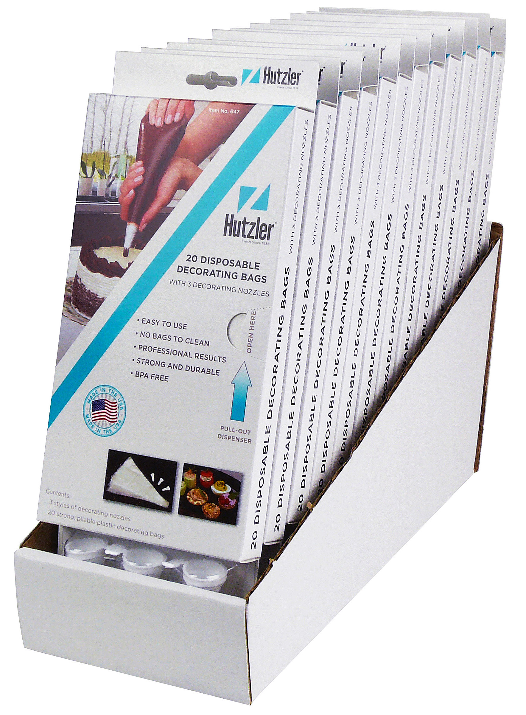 Disposable Decorating Bags Counter Display