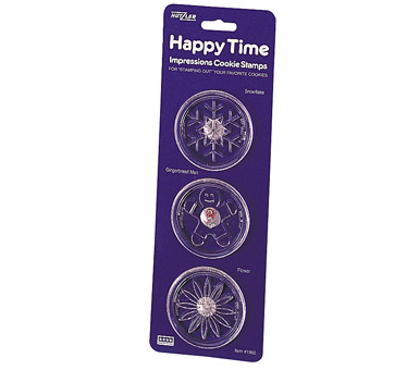 Happy Time Cookie Stamps, Set of 3