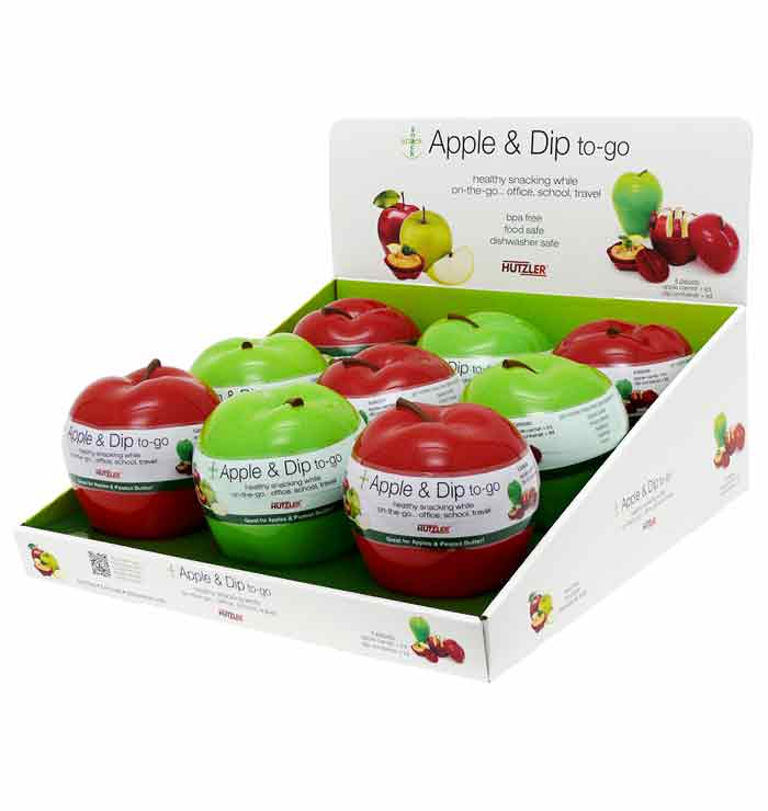 Snack Attack Apple & Dip to-go Counter Display