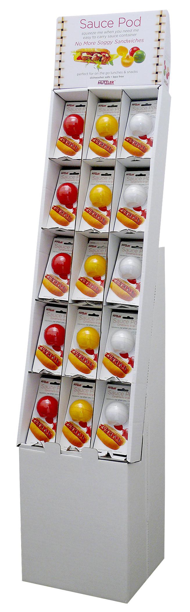Sauce Pod Floor Display