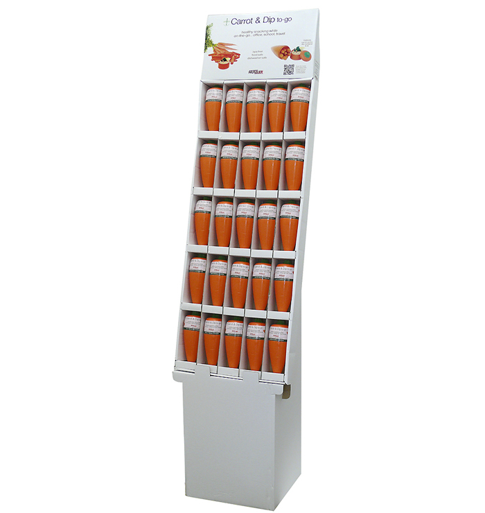 Snack Attack Carrot & Dip to-go Floor Display