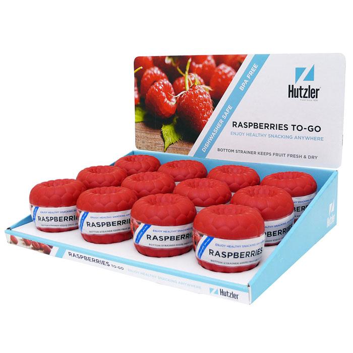 Raspberries To-Go Counter Display