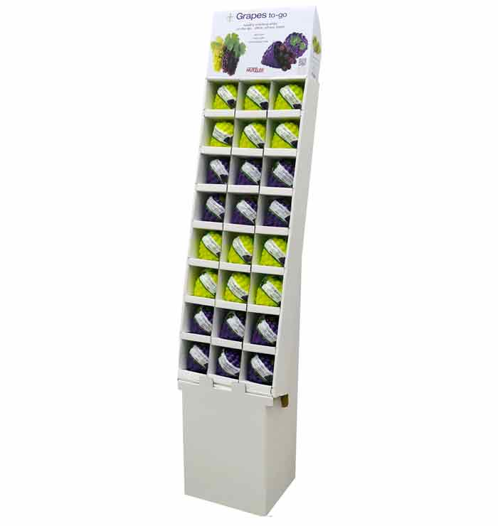 Snack Attack Grapes to-go Floor Display