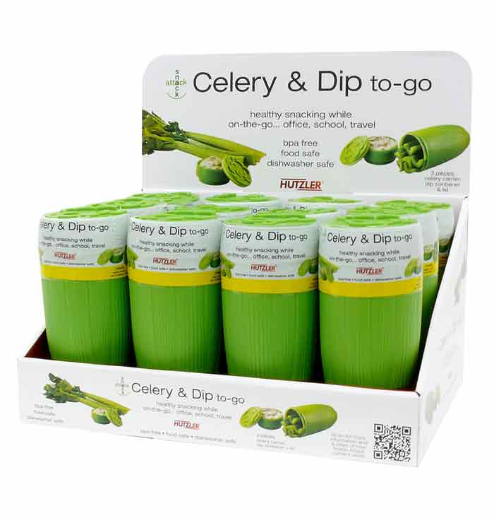 Snack Attack Celery & Dip to-go Counter Display